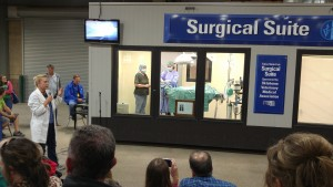 Dr. Bren speaking at the Tulsa State Fair Surgical Suite